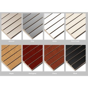 Retail Slatwall Panels in various finishes