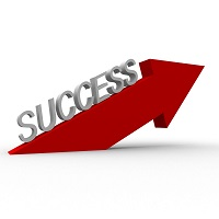 upward success arrow