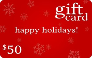 holiday gift card example